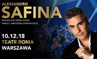 ALESSANDRO SAFINA włoski POP – OPERA tenor wystąpi po raz pierwszy w Warszawie!