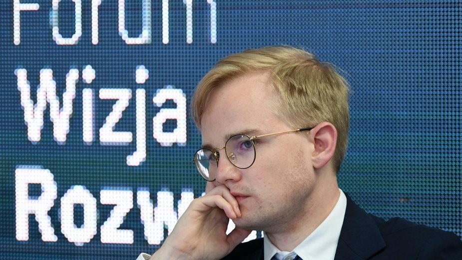 Wiceminister finansów Piotr Patkowski