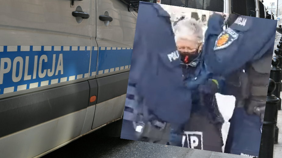 """""""Babcia Kasia"""" została zatrzymana przez policję podczas demonstracji w rocznicę katastrofy smoleńskiej"""