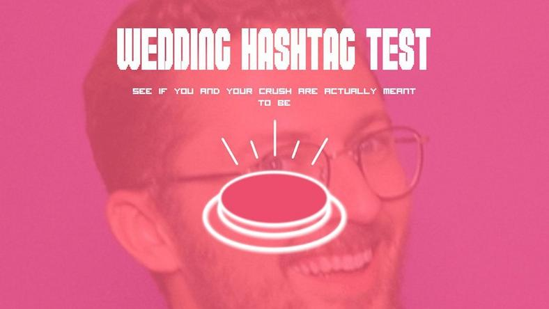 wedding hashtag website
