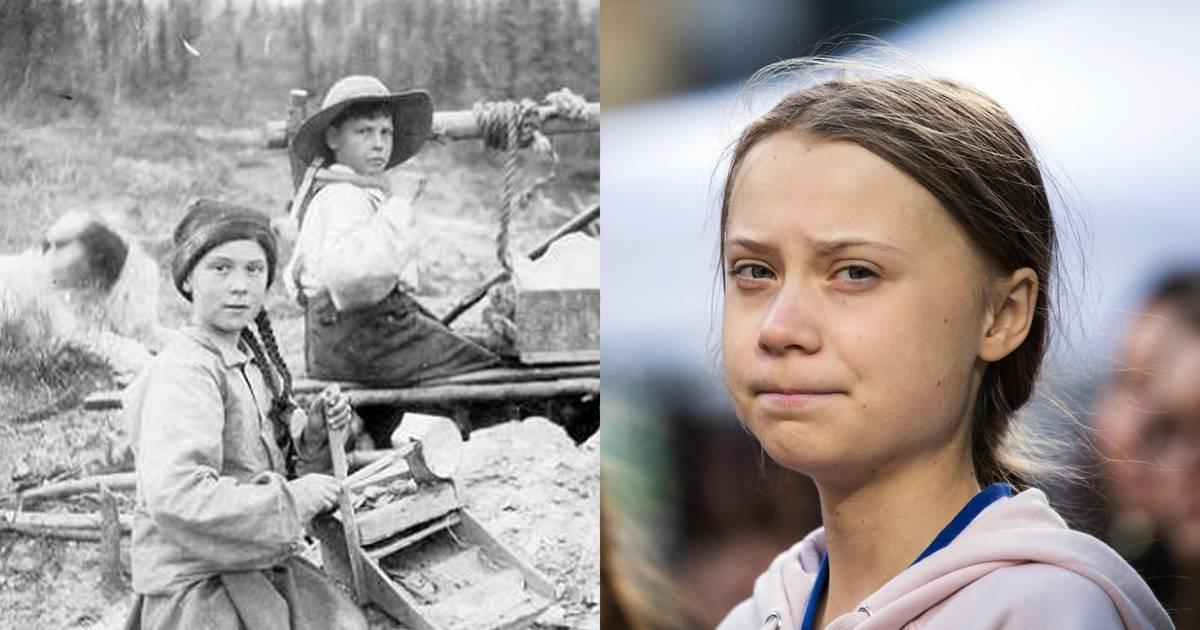 Leute glauben, Greta Thunberg auf diesem 120 Jahre alten Foto zu sehen