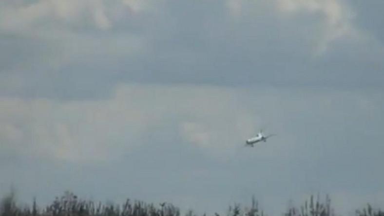 filmik z dramatycznym lotem Tupolewa