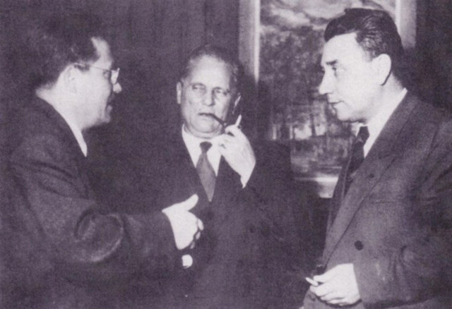 Edvard Kardelj, Josip Broz i Aleksandar Ranković