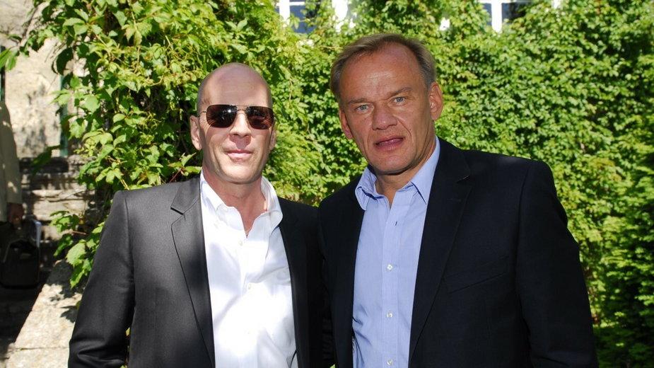Krzysztof Tryliński i Bruce Willis