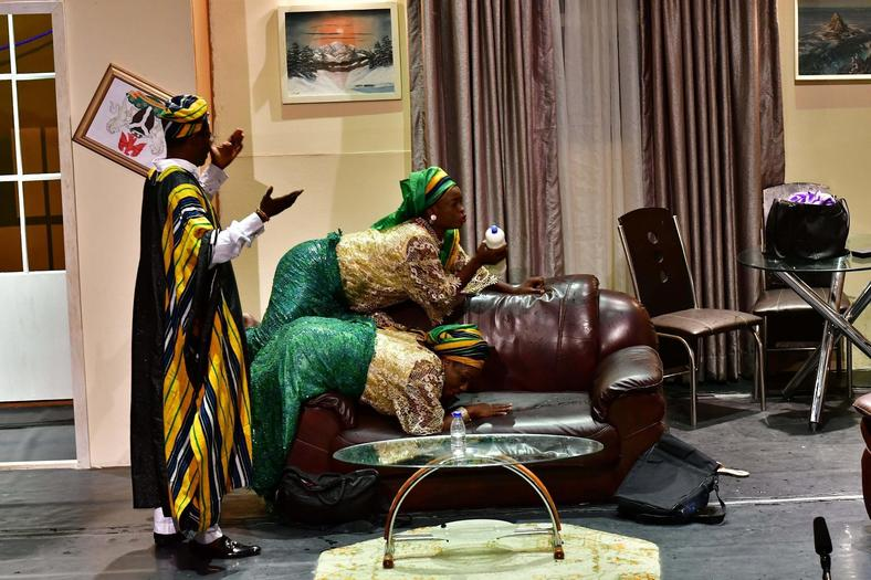 Some scenes from the Our Son The Minister Play at Terra Kulture on the 9th of November 2018