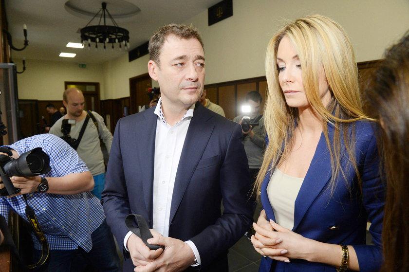 Jacek Rozenek i Małgorzata Rozenek podczas rozwodu
