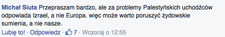Polacy o uchodźcach, fot. screen z Facebook