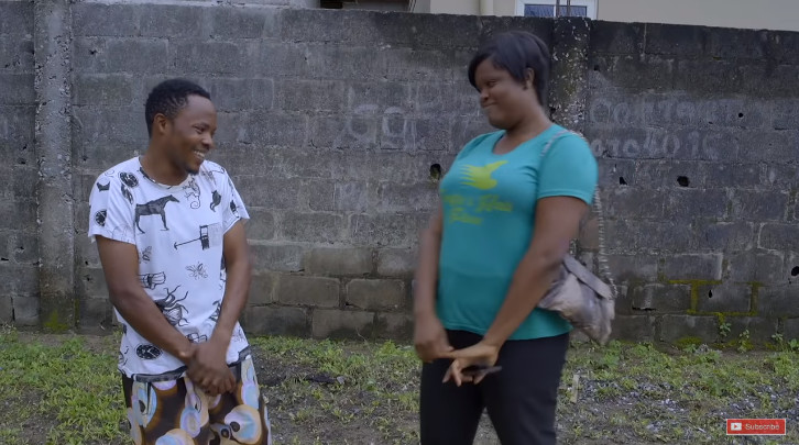 Olamilekan confesses to Pauline that he loves her after seeing her in Aiyetoro. [YouTube/SceneOne TV]