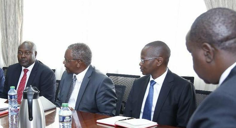 NTSA boss Francis Mejja during meeting with Interior CS Fred Matiang'i (Twitter)