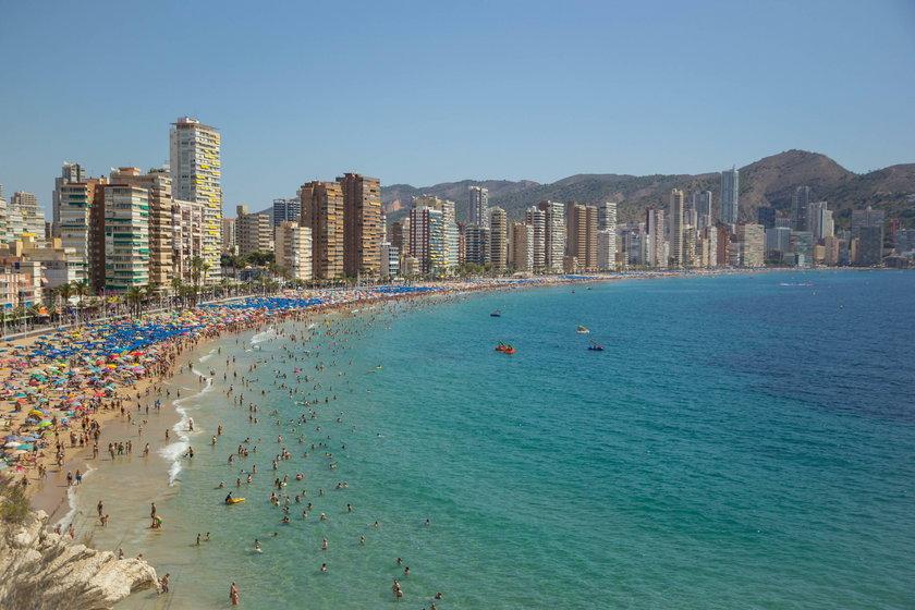 Wybrzeże Benidorm z widokiem na Alicante