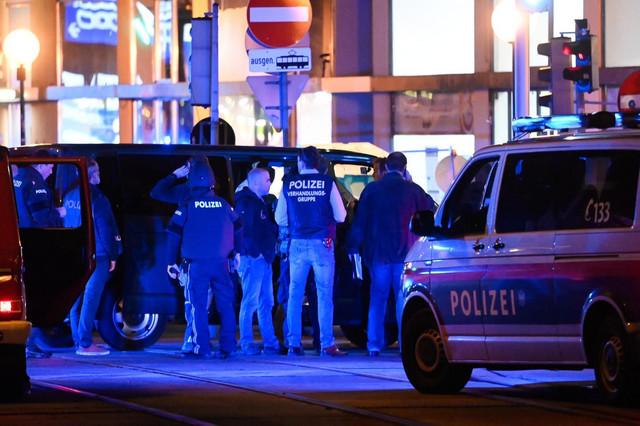 Policijske snage nakon napada u Beču