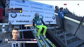 Kot na podium po pierwszej serii w Courchevel