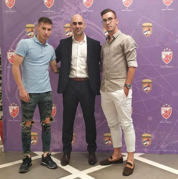 Slobodan Govedarica, predsednik Grafičara sa Veljkom Nikolićem i Nemanjom Stojićem