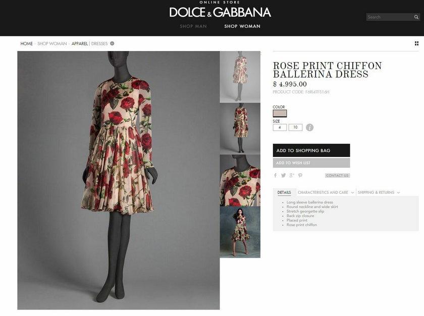 Sukienka marki Dolce & Gabbana