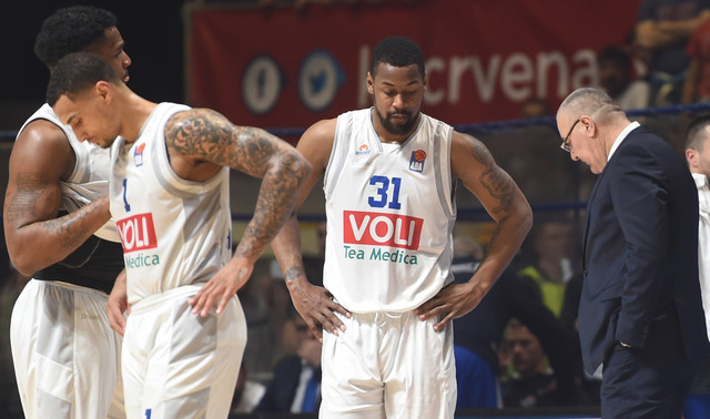 Očaj košarkaša Budućnosti posle poraza od Crvene zvezde