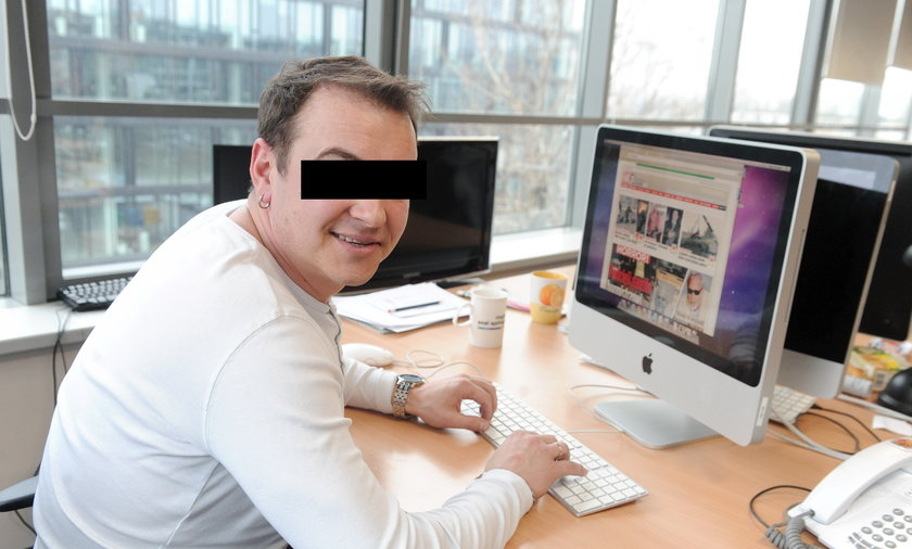 Radek Liszewski w redakcji FAKT