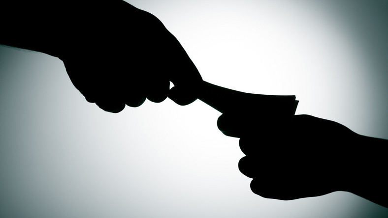 finanse, pieniądze, łapówka