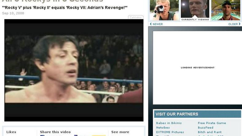 Ekspres Stallone, czyli Rocky 1-6 w 5 sekund