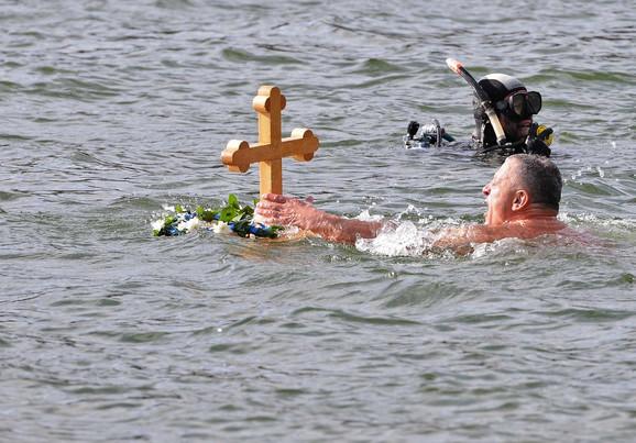Kragujevac, plivanje za Časni krst