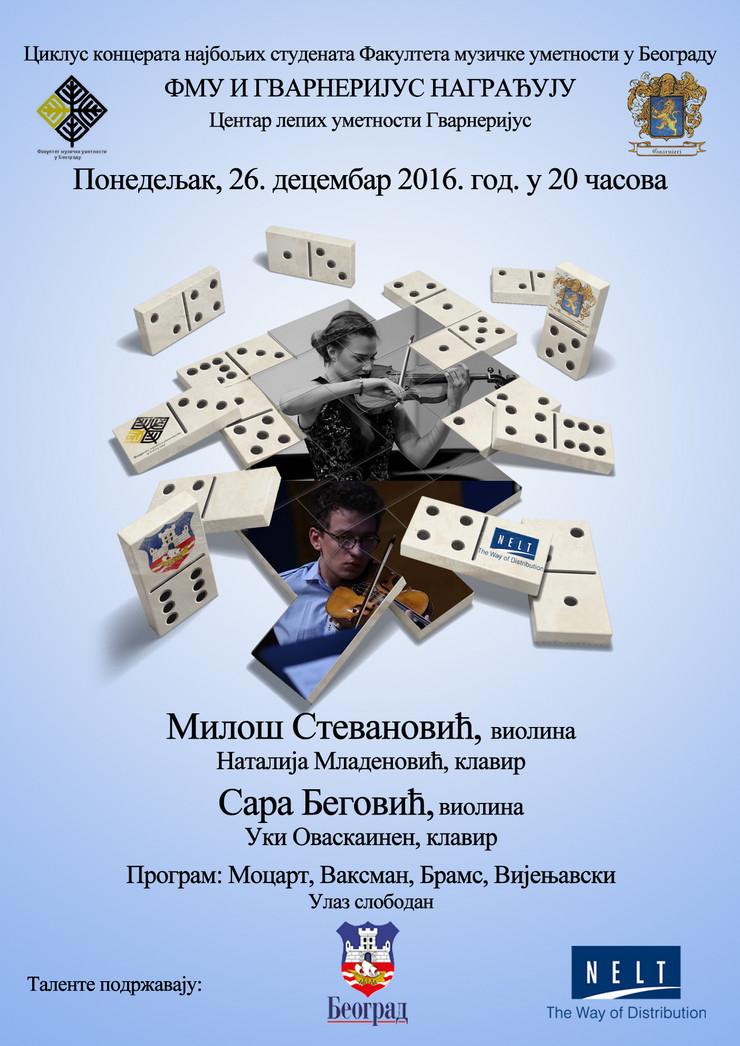 Sara Begović i Miloš Stevanović koncert violina