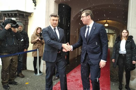 Andrej Plenković i Aleksandar Vučić