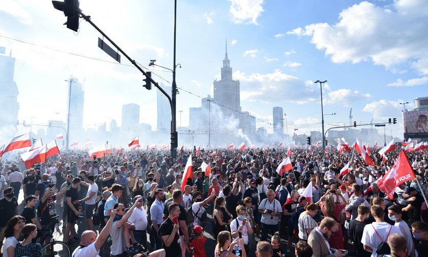 Tak wyglądała Warszawa podczas 76. rocznicy wybuchu Powstania Warszawskiego