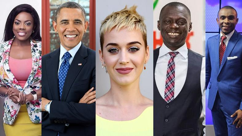 Nana Aba Anamoah,Barack Obama,Katy Perry,Gary Al-Smith and Micheal Oti Adjei