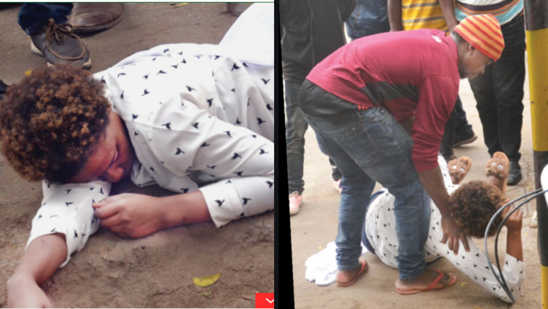 Woman collapses while begging a married man to be her boyfriend (photos)