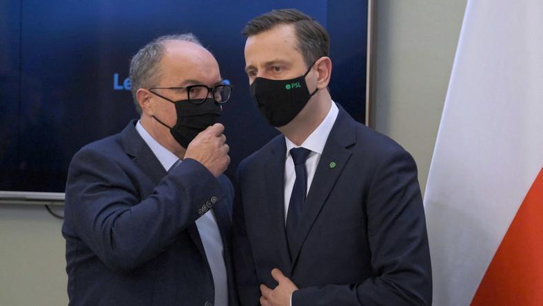 Wicemarszałek Sejmu Włodzimierz Czarzasty oraz prezes PSL Władysław Kosiniak-Kamysz PAP/Mateusz Marek