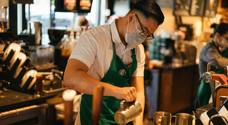 Starbucks will become the first national restaurant chain to require all customers to wear masks in stores