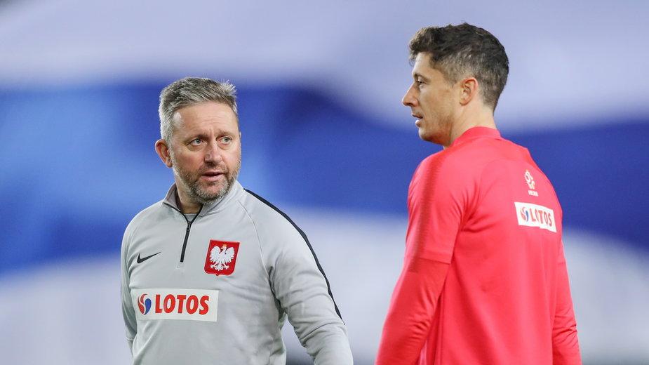 Jerzy Brzęczek i Robert Lewandowski