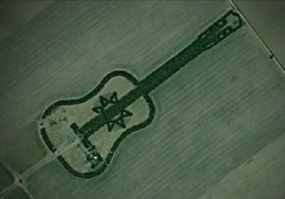 Šumu u obliku gitare snimio je