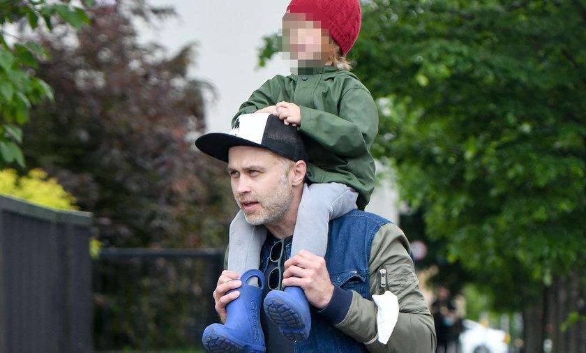 Maciej Zakościelny z synem