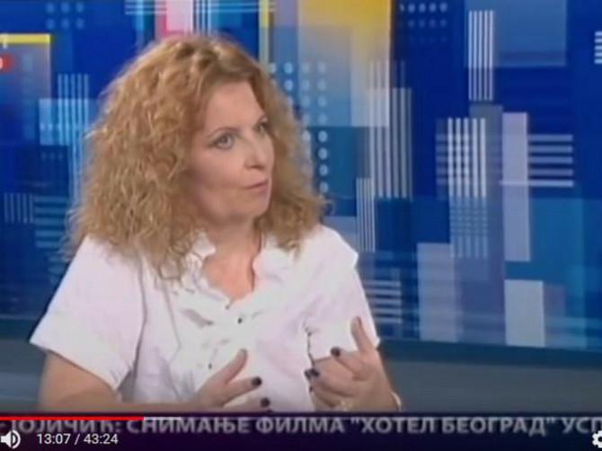 Milena Antić tokom gostovanja na RTS-u