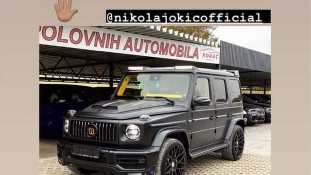 Nikola Jokić, automobil mercedes