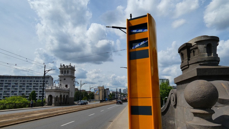 Most Poniatowskiego - fotoradar
