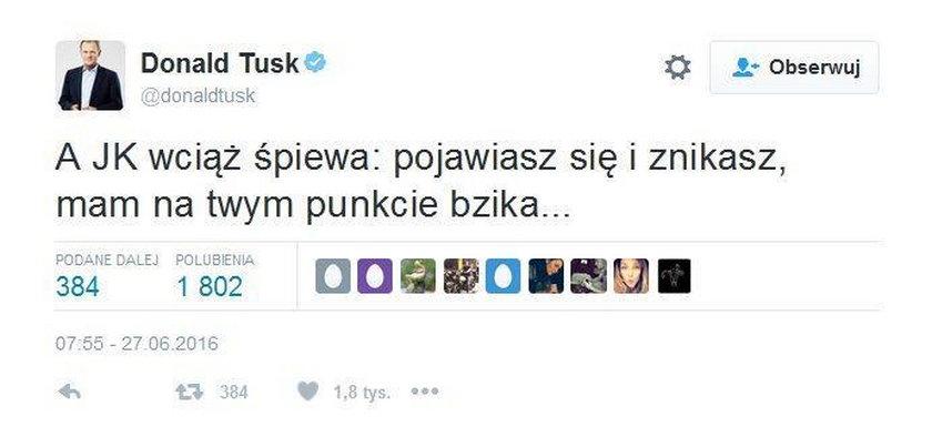 Tusk odgryzł się Kaczyńskiemu. Śmieszne?