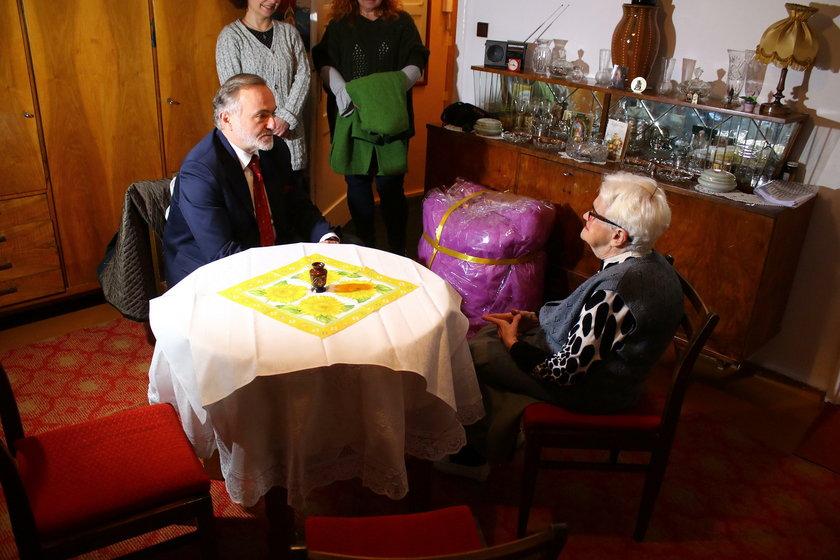 Prezydent Gdyni z Panią Czesławą