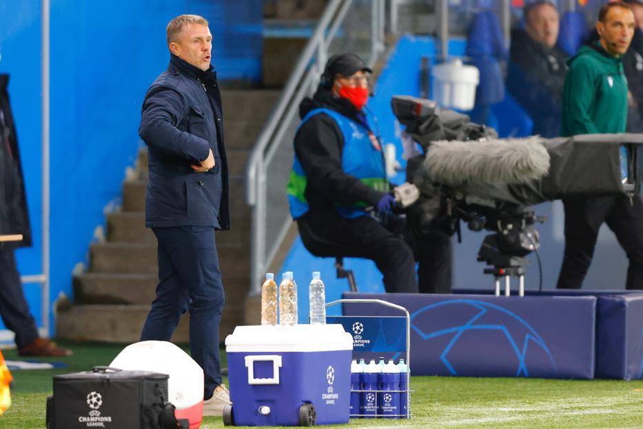 Az asztrológus szerint Szerhij Rebrov lelke szárnyalni fog a jövő keddi meccsen és a lelkesedés át-agad a játékosaira is./ Fotó: MTI EPA Svein Ove Ekornesvag