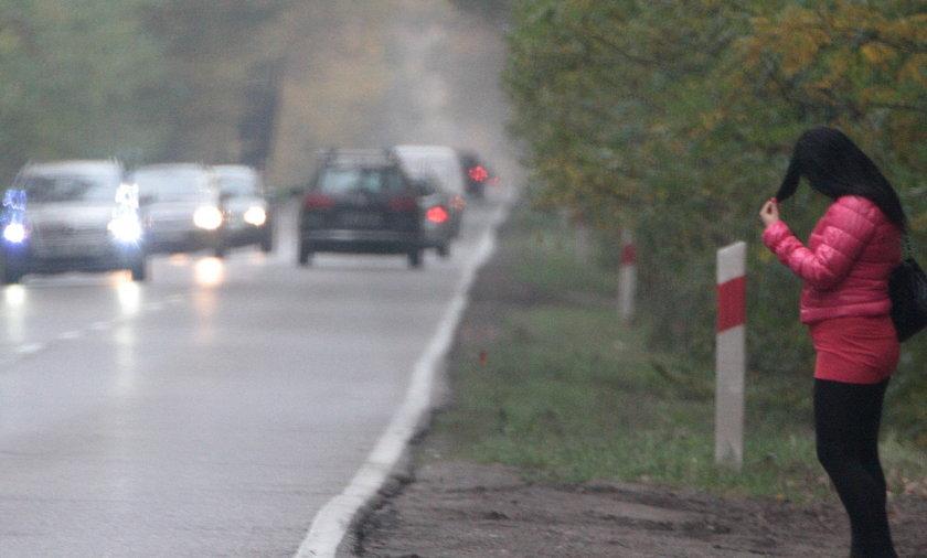 Tirówka na drodze do Piaseczna.