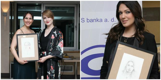 Izložbu i humanitarno veče podržale su novinarke Anita Lazić Todorović i Nina Radulović