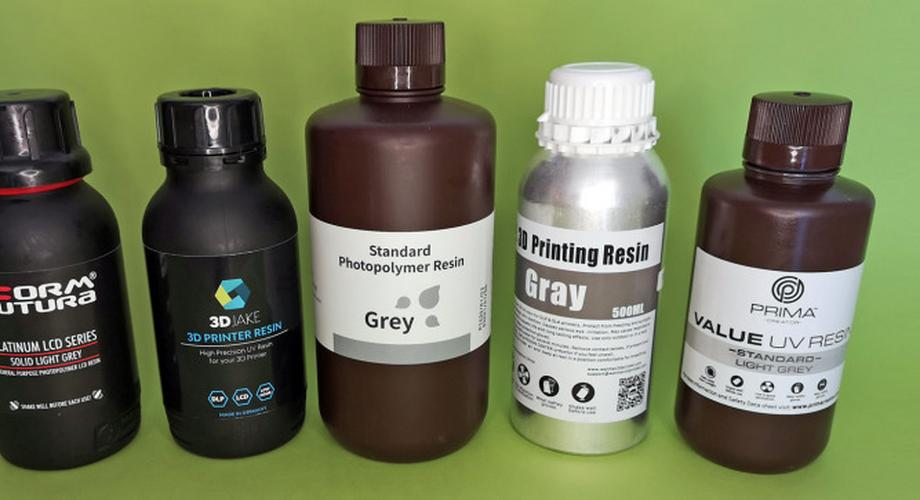 Resin-Vergleich: Fünf Harze für SLA-Drucker im Test