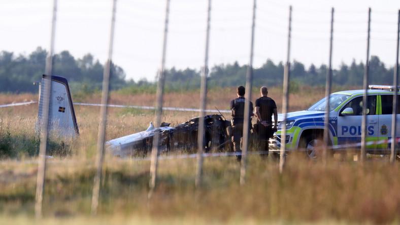 Katastrofa samolotu w Szwecji