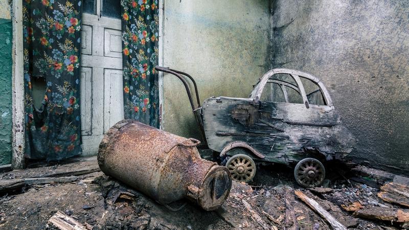 Opuszczona chata w powiecie kaliskim, Wielkopolska