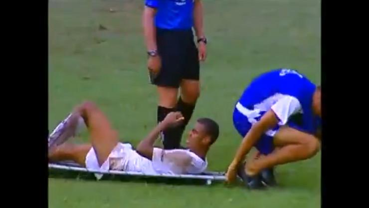 Povređeni fudbaler u Brazilu