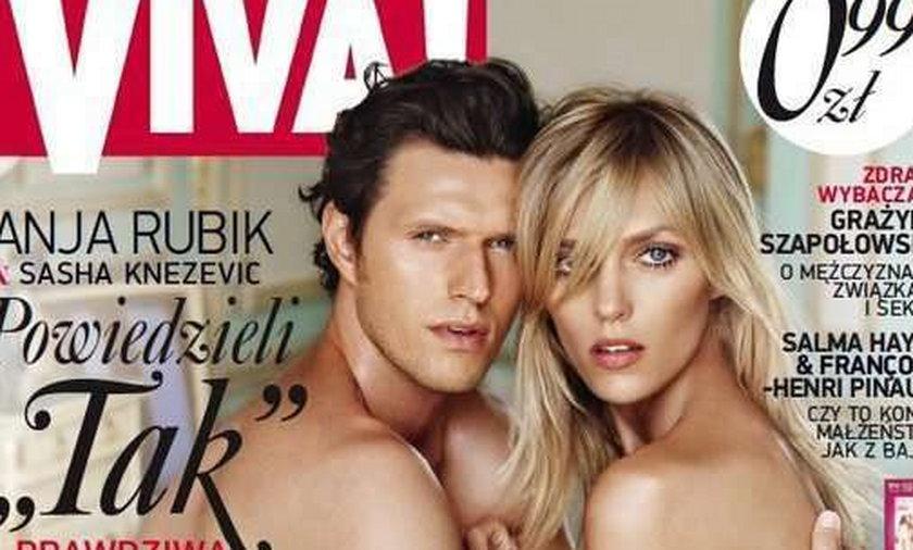 Goła Anja Rubik z mężem. Piękni?