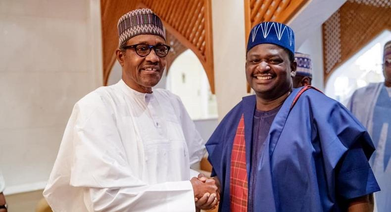 Femi Adesina (right) says President Muhammadu Buhari (left) will listen to well-intentioned criticism on solving Nigeria's problems, but will never entertain anything based on negativity [Presidency]