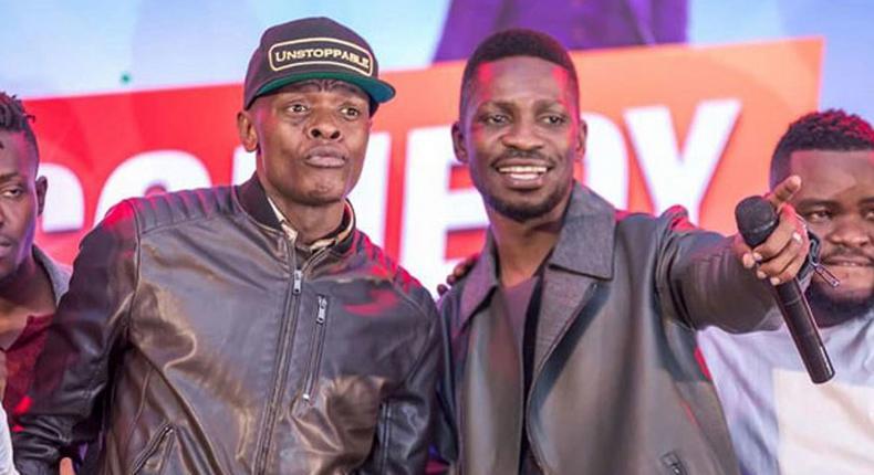 Jose Chameloene and Bobi Wine