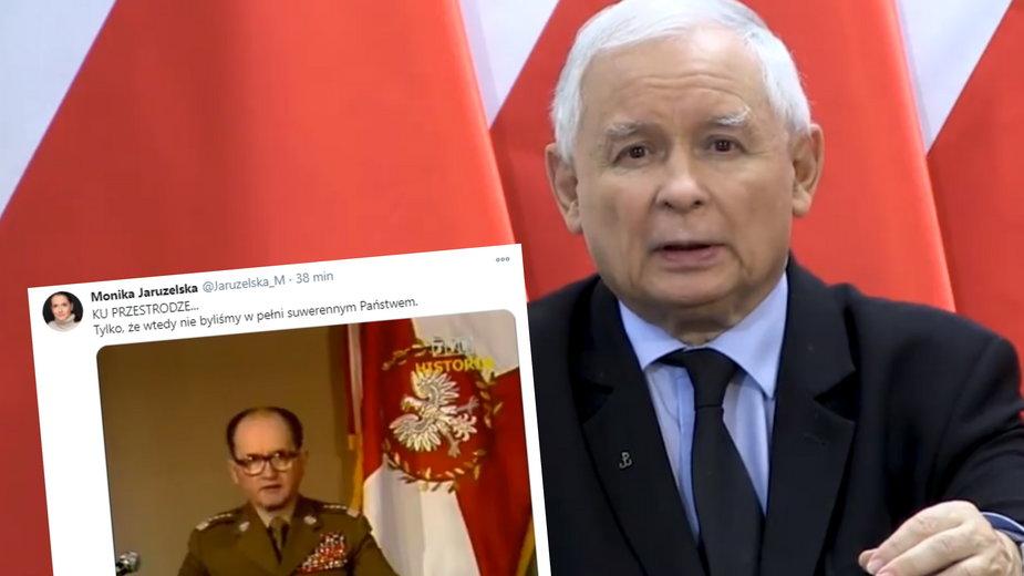 Jarosław Kaczyński o protestach. Komentarz Moniki Jaruzelskiej