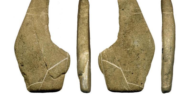 Znalezioną w Obłazowej figurkę wykonano z płaskiego piaskowca